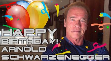 Поздравляем Арнольда Шварценеггера с 72-летием!