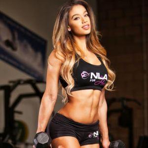 Тренировка фитнес-модели: Лаис Делеон